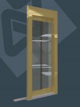 2 Panelli Camlı Teleskopik (Gold Mirror)